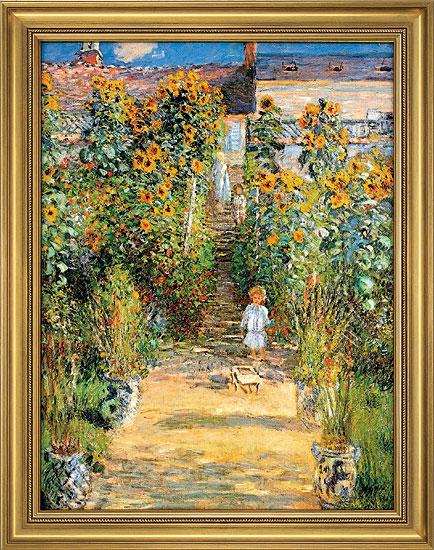 """Bild """"Le Jardin de Monet à Vétheuil"""" (1881), gerahmt"""