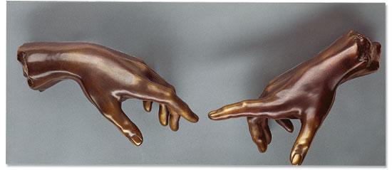 """Wandobjekt """"Die Erschaffung des Adams"""", Version in Bronze"""
