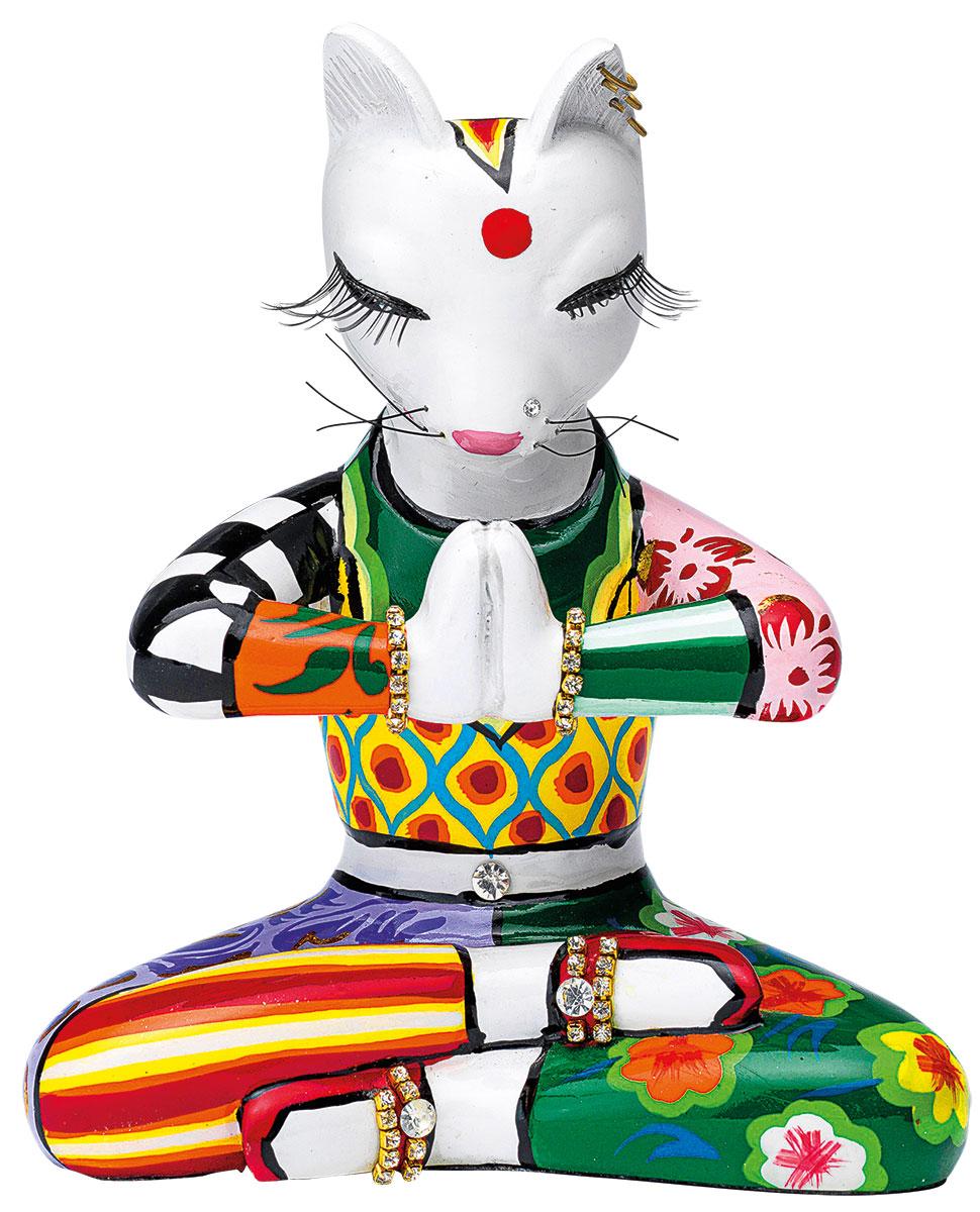 """Skulptur """"Yogakatze Sadhu"""", Kunstguss"""