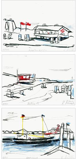 """Bildfolge """"Kleine Sylter Trilogie"""" (2011), ungerahmt"""