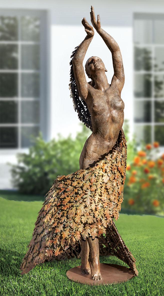 """Gartenskulptur """"Mother Earth Dancing"""" (Original / Unikat), Bronze"""
