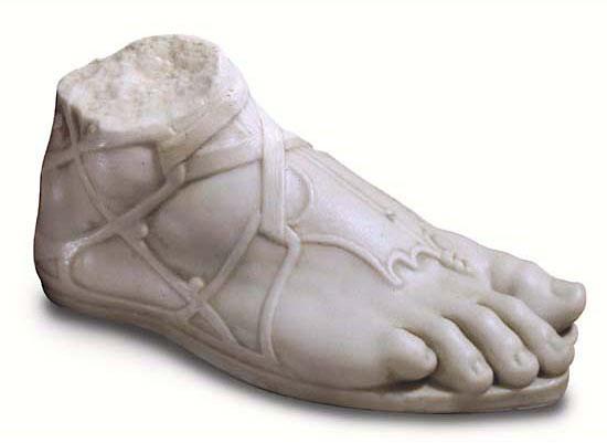 Der Fuß des Hermes