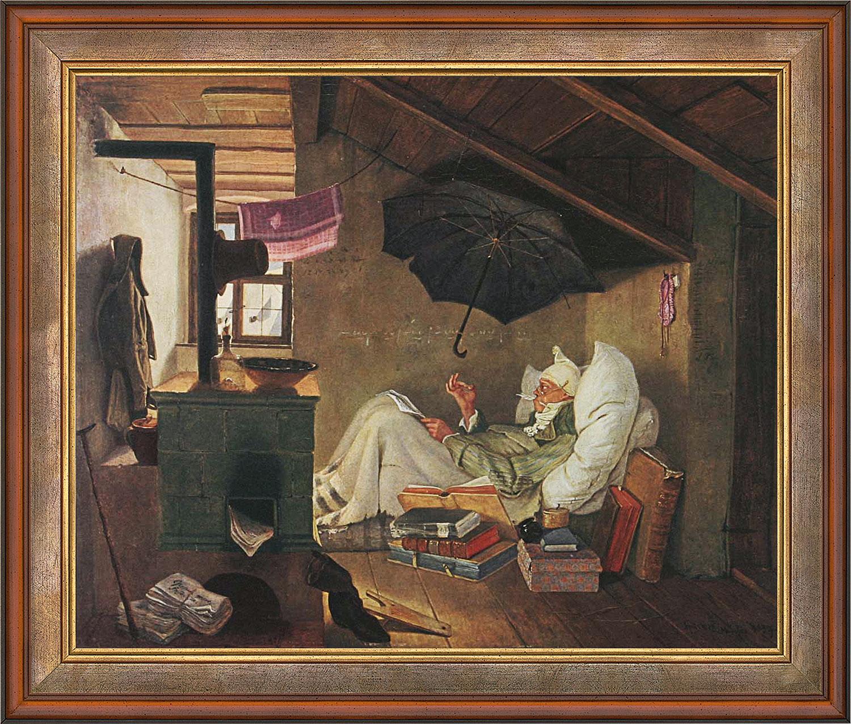 """Bild """"Der arme Poet"""" (1839), gerahmt"""