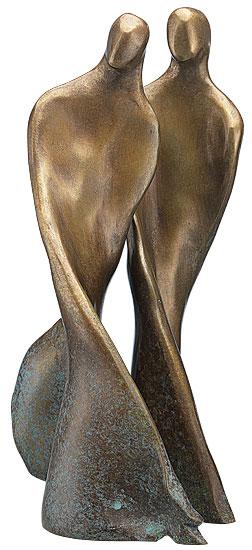 """2-teilige Skulptur """"Tanzendes Paar"""", Bronze"""