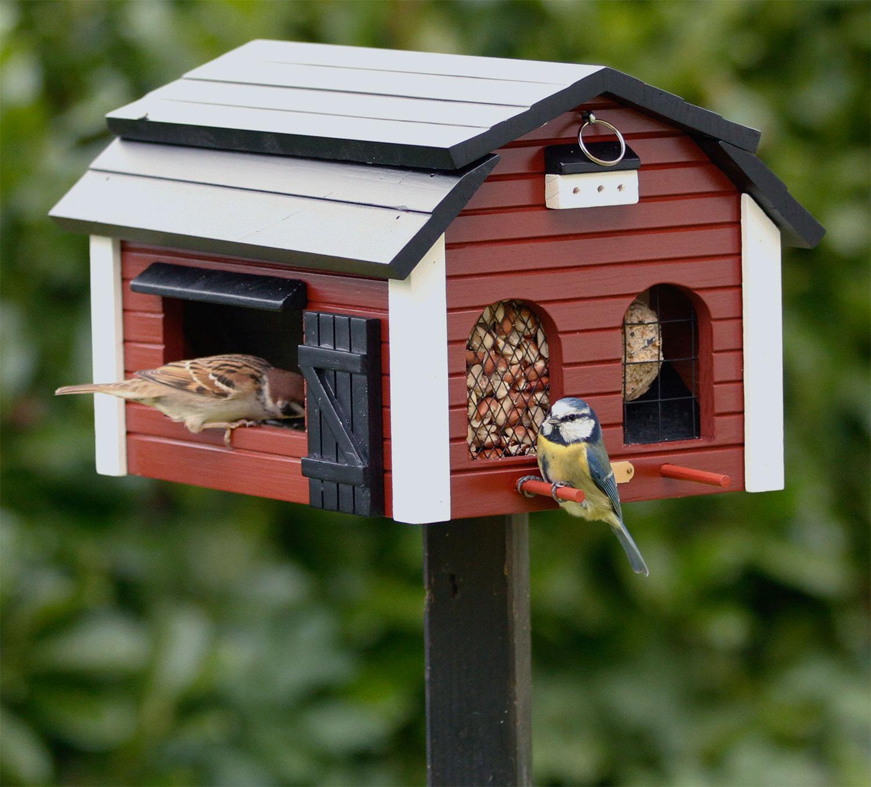 """Vogelhaus """"Futterscheune"""" aus Holz, bunt"""