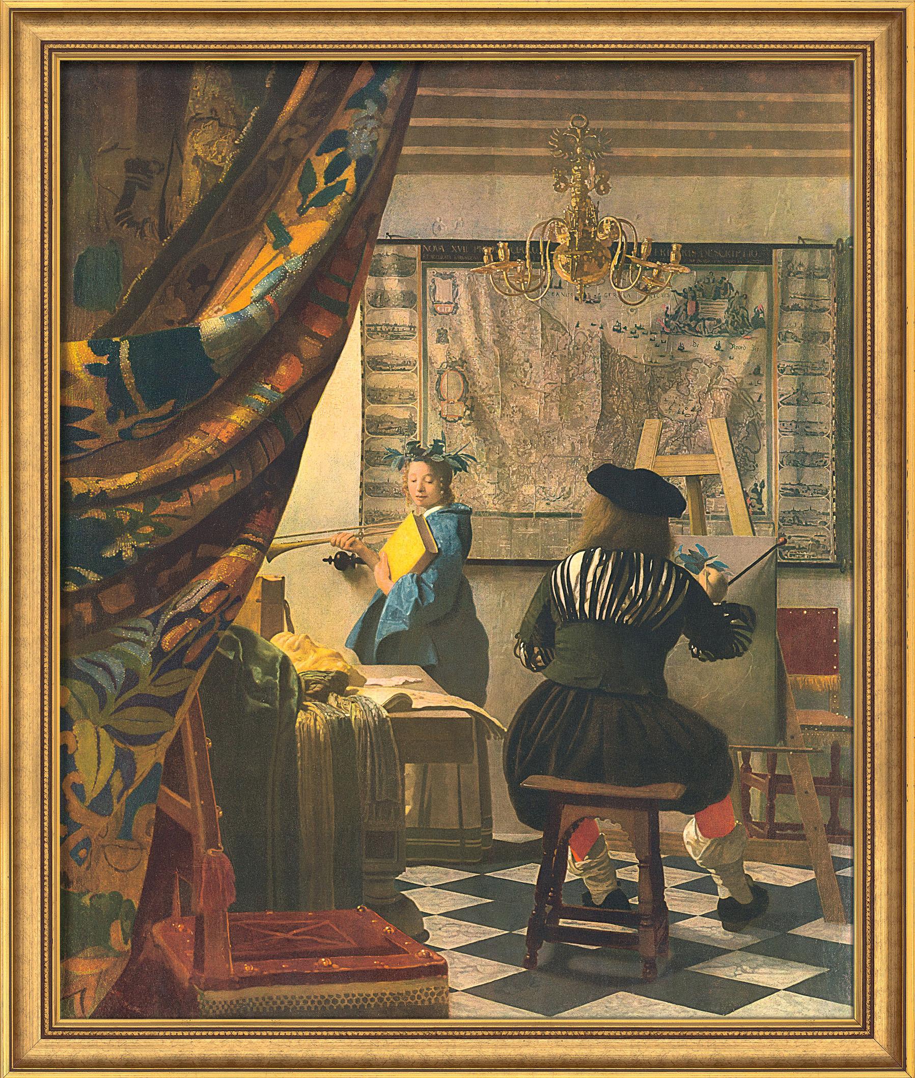 """Bild """"Die Malkunst"""" (1665), gerahmt"""