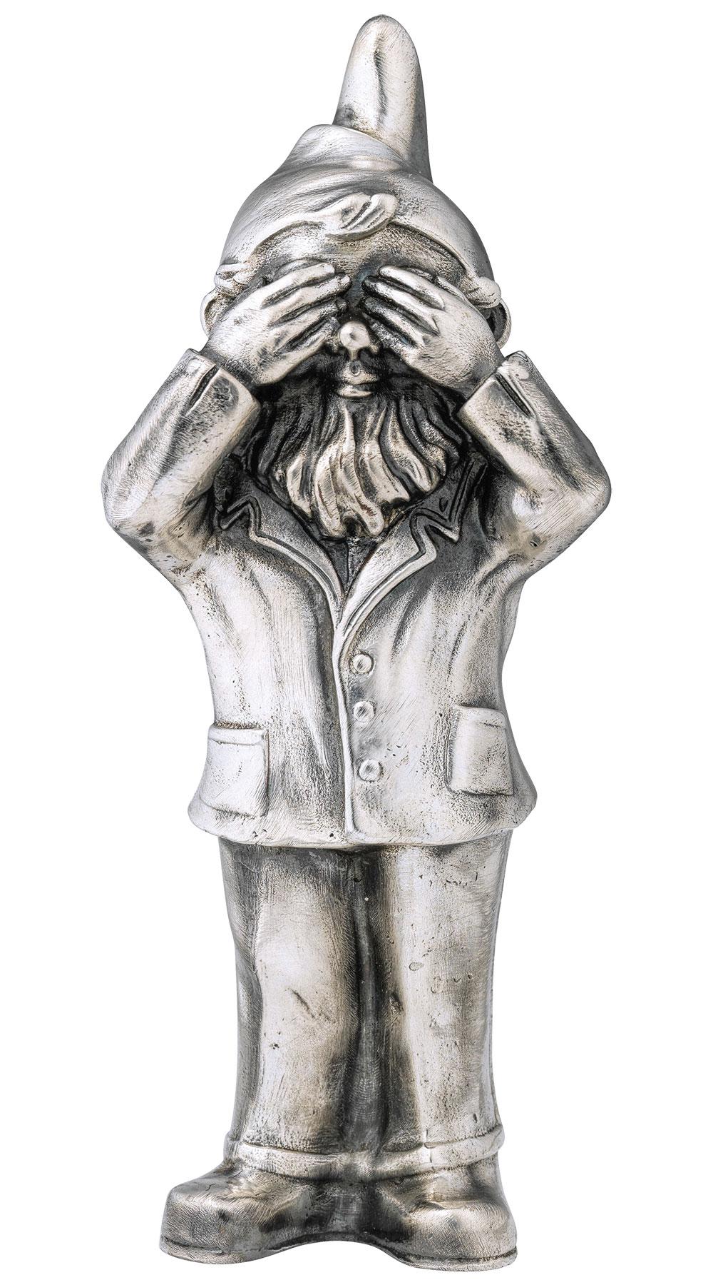"Skulptur ""Geheimnisträger - Nichts sehen"", Version versilbert"