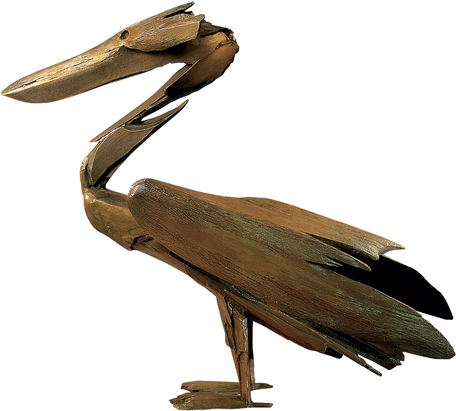 """Skulptur """"Der Pelikan"""", Bronze"""