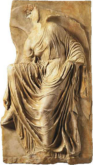 Nike-Relief von der Akropolis, Reduktion in Kunstmarmor
