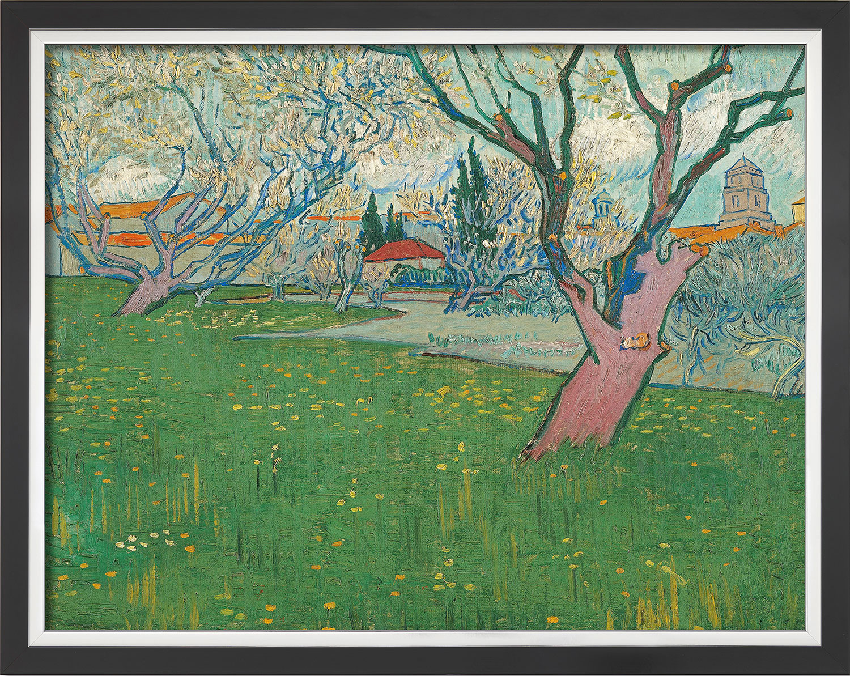 "Bild ""Blühende Obstgärten, Blick auf Arles"" (1889), gerahmt"