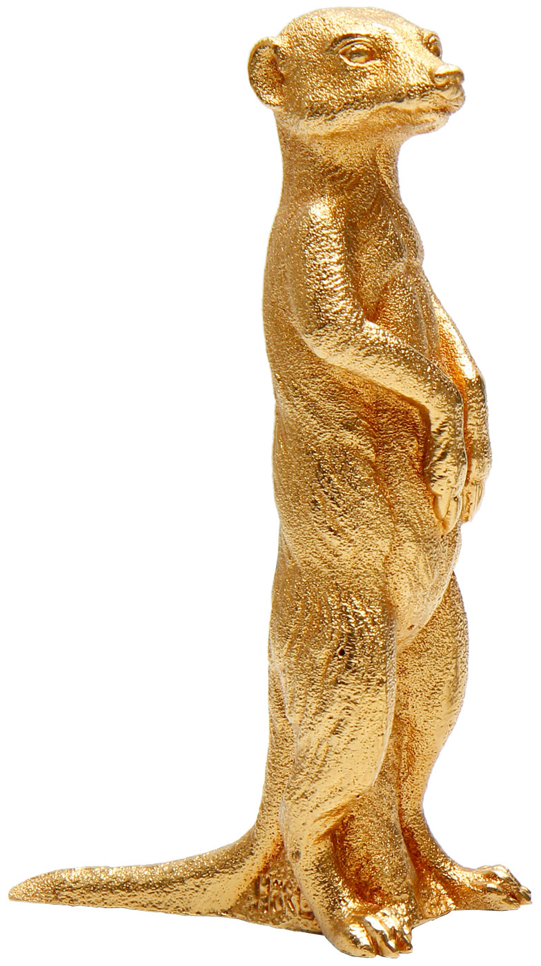 """Skulptur """"Erdmännchen"""" (2009), Version vergoldet"""