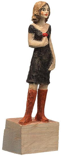 "Skulptur ""Frau"", Kunstguss Holzfinish"