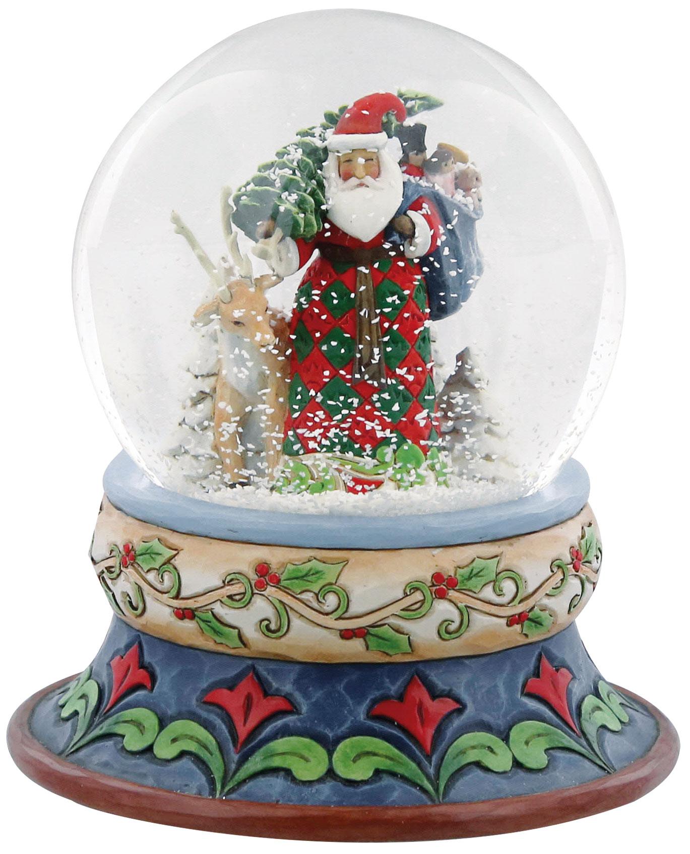 "Schneekugel ""Santa and Rudolph"""