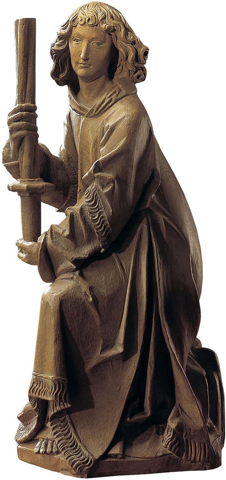 "Skulptur ""Wartburg-Engel"", Kunstguss Holzfinish"