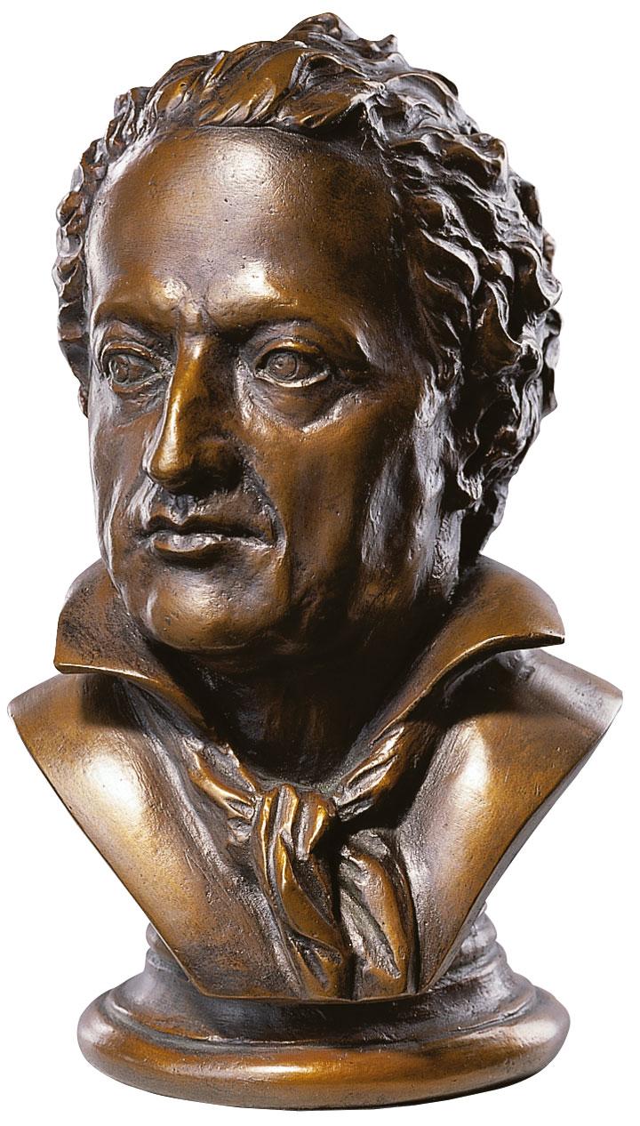 Goethe-Büste, Version in Kunstbronze