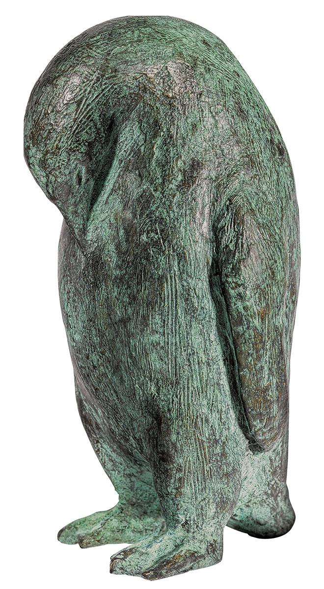 """Skulptur """"Pinguin"""", Bronze"""