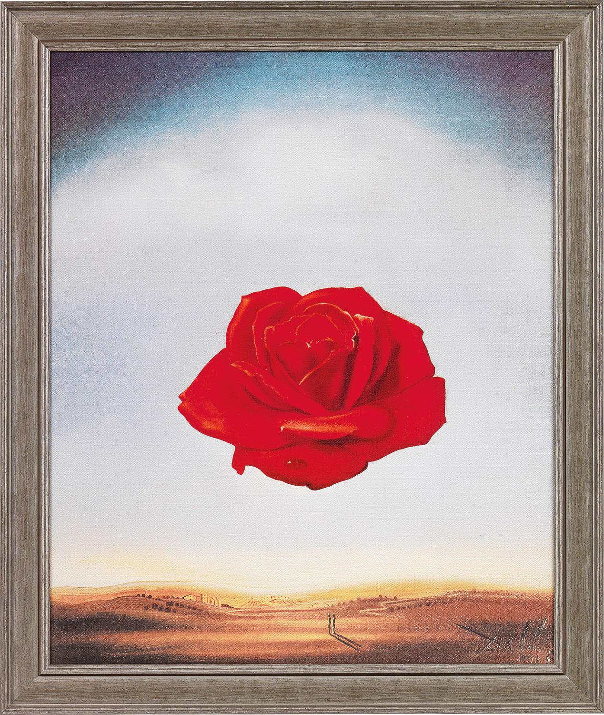 "Bild ""Die meditative Rose"" (1958), gerahmt"