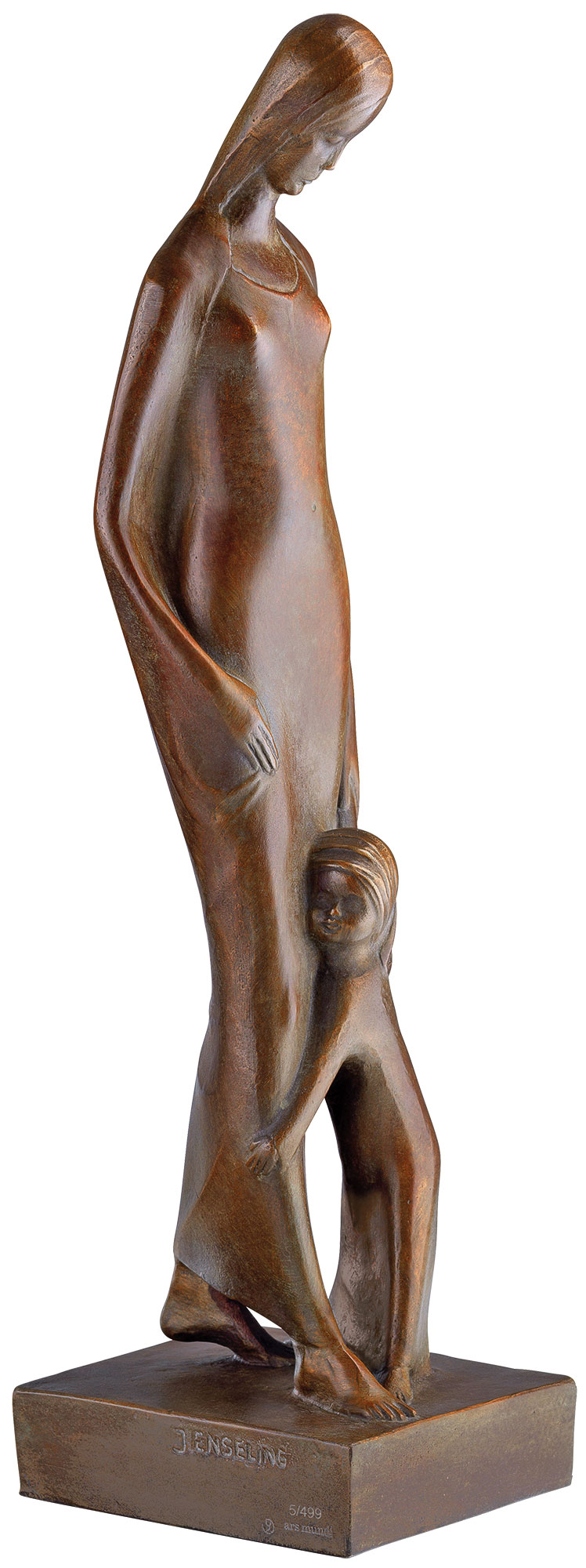 """Skulptur """"Madonna mit Kind"""" (1920), Reduktion in Bronze"""
