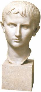 "Porträtkopf ""Jugendlicher Augustus"", Kunstguss"