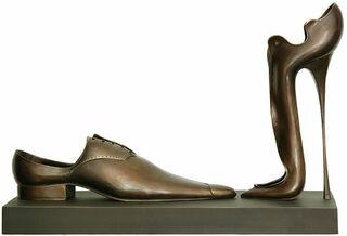 """Skulpturengruppe """"A Deux"""", Version in Bronze"""