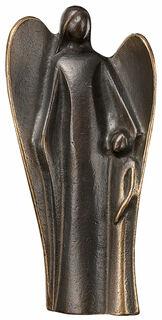 "Skulptur ""Schutzengel mit Kind"", Bronze"