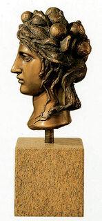 """Büste """"La Testa"""", Bronze"""
