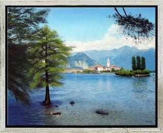 """Bild """"Spätsommer am Lago Maggiore"""" (2021) (Original / Unikat), gerahmt"""