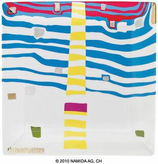 """Gabenschale """"Detail of Infinity"""" (23 x 23 cm, weiß)"""