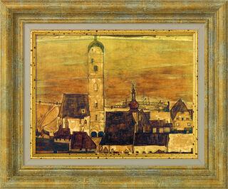 """Bild """"Stadt Stein"""" (1913), gerahmt"""