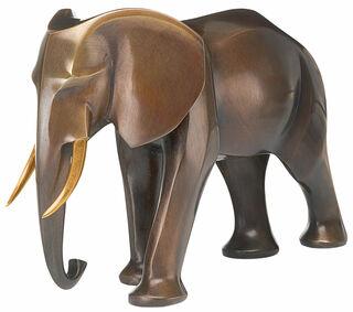 """Skulptur """"Elefant"""", Version in Bronze"""