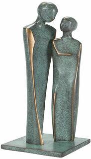 """Skulptur """"Verliebtes Paar"""", Bronze"""