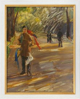 """Bild """"Papageienmann"""" (1901), Version weiß-goldfarben gerahmt"""