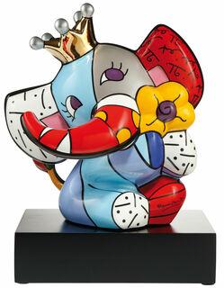 "Porzellanskulptur ""Spring Elephant"", große Version"