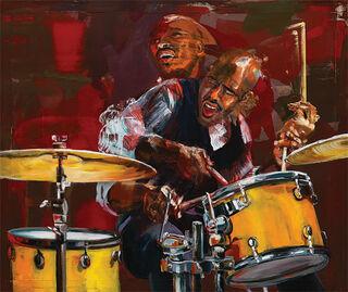 """Bild """"Drummer in Motion"""", auf Keilrahmen"""