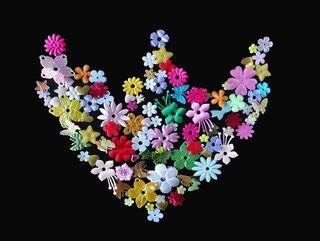 "Bild ""Heart with flowers"" (2017)"