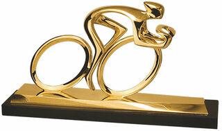 """Skulptur """"Radler"""", Version in Bronze vergoldet"""