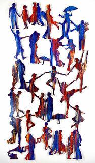 """Wandskulptur """"Let's Dance"""", Stahl"""