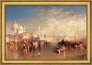 """Bild """"Venedig, vom Canale della Giudecca aus gesehen"""" (1840), gerahmt"""