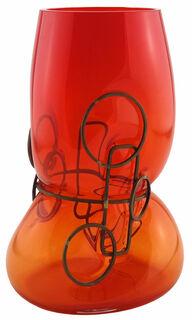 """Vase """"Primavera Orange"""", Glas/Zinn"""