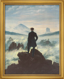 "Bild ""Der Wanderer über dem Nebelmeer"" (1818), gerahmt"