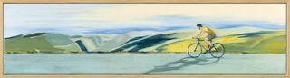 """Bild """"In Harmonie mit der Landschaft"""" (2020) (Original / Unikat), gerahmt"""
