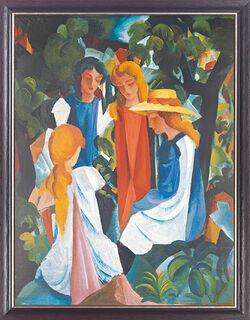 """Bild """"Vier Mädchen"""" (1912/13), gerahmt"""