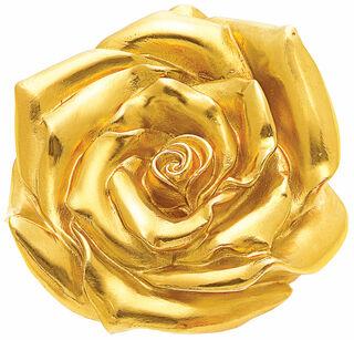 """Skulptur """"Rose"""" (2012), Version gelbvergoldet"""