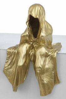 "Figur ""Mini Wächter"" (2012), goldlackierte Version"