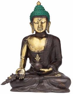 "Skulptur ""Meditierender Buddha"", Bronze"