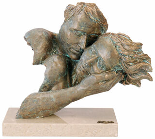 "Skulptur ""Zweisamkeit"", Kunstguss Steinoptik"