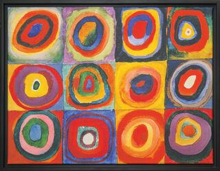 """Bild """"Farbstudie Quadrate"""" (1913), gerahmt"""