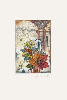 """Bild """"Blüte mit Säule rechts"""" (2008), ungerahmt"""