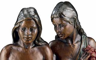 """Skulptur """"Deux Tahitiennes"""", Kunstbronze"""