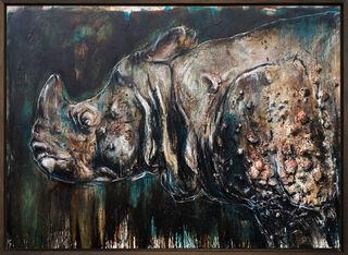 """Bild """"Rhinozeros_8"""" (2019) (Unikat)"""